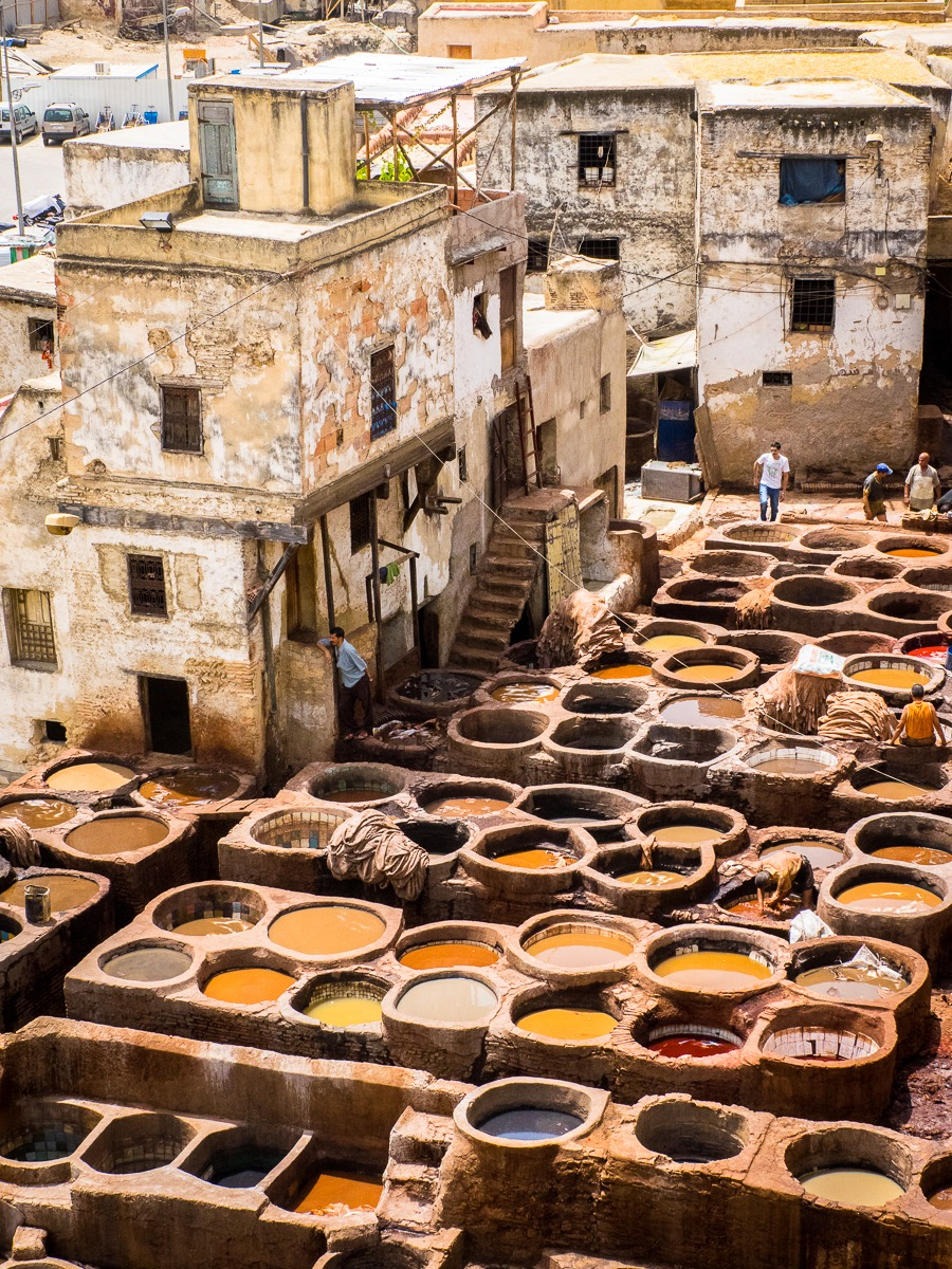 Fez Tannery Rooftop View